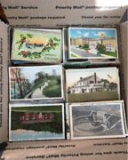 Huge 500+ Vintage Postcard Lot - Early C1900and039s To 1970and039s Standard Size 3.5x5.5