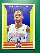2012-13 Panini Past And Present Khris Middleton Rc Auto 178 Rookie Nmmt