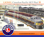 Lionel Canadian Pacific O-gauge Train Setand039 With Extra Passenger And B-units
