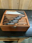 Starrett Micrometer Sets -- 1 Lot Includes 0 - 20 Inch 5 Sets Of Micrometers
