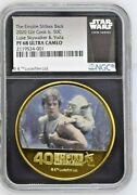 2020 Cook Islands Gilt 50 Cents - Star Wars Empire Strikes Back Pf68 Uc Ngc Coin