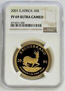 2001 Gold South Africa Krugerrand 1 Oz Coin Ngc Proof 69 Ultra Cameo