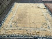9x12 Hand Knotted Antique Wool Oriental Rug Art Deco