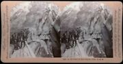 Tourists In Walkway Ouray Box Canyon Falls Colorado Keystone Stereoview 1901 Co