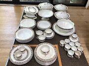 83 Pc Johnson Brothers Ormsby Dinner Ware England China Real 24k Gold Rims