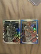 Topps Chrome Dylan Carlson Blue /150 And Black And White Mini Diamond Lot