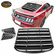 Fits 15-21 Mustang Ikon Style Rear Window Louver And Quarter Side Scoop Unpainted