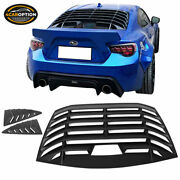 Fits 13-20 Fr-s Brz Toyota 86 Ikon Style Rear And Quarter Side Window Louvers