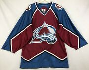 Starter Colorado Avalanche Authentic Center Ice Hockey Jersey Fight Strap 46-r