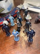 Vintage Lot Of 22 Figures 2 Benches 1 Fire Hydrant Barclay Manoil Lead Figures