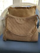 New Fleming Quilted Tote Bedrock Leather Holiday Gift Women Handbag