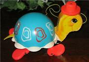 Vintage ©1962 Fisher Price Turtle Pull Toy 773.