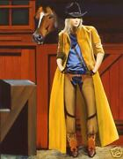My Buddy And Me By David Devary Cowgirl And Horse Giclee