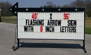 New Flashing Portable Outdoor Lighted Business Sign W/ 8 Letters 40 X 96