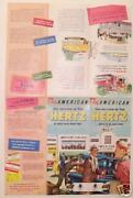 Fly American Airlines - Rent Hertz Cars 1954 Fords See