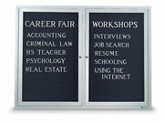 Enclosed 36x48 Satin Anodized Aluminum Bulletin Board For Indoor Use