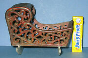 Authentic Old Cast Iron Toy Cradle 3 3/4 Hi Very Ornate Now On Sale Ci 317