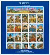 Us 2870 Legends Of The West Sheet Of 20 Mnh Recalled