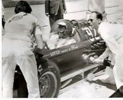 Jim Clark Lotus-ford Colin Chapman 2nd Place 1963 Indy 500 F1 8 X 10 Photo