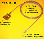 Cable 456 Motorola Mototrbo Xpr4300 Xpr4350 Xpr4500 Xpr4550 Xpr8300 Repeater