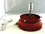 New Gas Pump Globe Lamp Stand Light Fixture - Red - Free Shipping And Handling