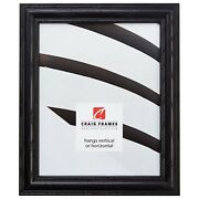 Craig Frames 1.25 Wide Traditional Black Wooden Picture Frames And Poster Frames