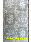 Federal-early American-colonial Historic Reproduction Wallpaper Wh/grn Stencil
