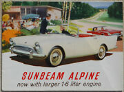 Sunbeam Alpine 1.6lt Brochure - Fold Out - Two Sided Great Condition