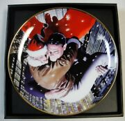 Superman Holiday Collectors Plate Dc Direct Comics Christmas Lois Lane Sold Out