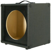 1x12 Extension Guitar Speaker Empty Cabinet Charcoal Black Tolex Us Made