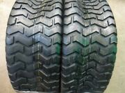 Two 23/8.50-12 23/8.50x12 Lawnmower/golf Cart Turf Tread 4 Ply Tubeless Tires