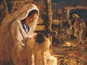 Mary Treasured By Michael Dudash Manger Scene Open Edition Canvas Giclee