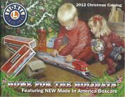 Lionel 2012 Train Catalog Christmas Edition Featuring Made In America Boxcars
