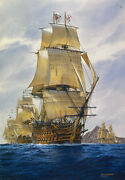 Englandand039s Wooden Walls Tom Freeman Artist Proof - Lord Nelsonand039s Hms Victory