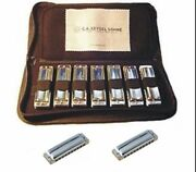 Seydel 1847 9 Harmonica Set W/case Steel Reeds Wood Or Poly Comb And Key Choices