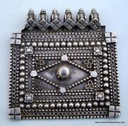 Ancient Ethnic Tribal Old Silver Pendant Gypsy Hippie