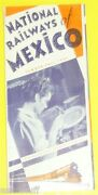 National Railways Of Mexico 1942 Time Tables And Map Brochure See