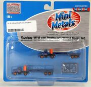N Scale Roadway Ih R-190 Tractor/ 32and039 Flatbed Trailer Set - Mini Metals 51122