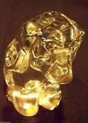 Orrefors Crystal Puppy Dog Figurine Statue Large Paperweight Fine Art Glass