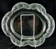 Piriac Coupe Art Deco Crystal Flat Bowl By Lalique Crystal France 1950and039s