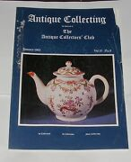 Antique Collecting January 1985 - 19th Century Lustre Pottery/uniform Buttons