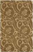 9x13 Surya Wool Hand Tufted Brown Floral 7019 Area Rug - Approx 9and039 X 13and039