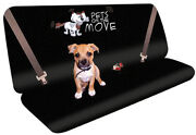 New Comfy Pets And Dogs Car Interior Protection Black Rear Back Liner Seat Cover