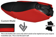Black And Red Custom Fits Yamaha Xq 125 Maxster Real Leather Seats Covers