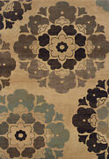 10x13 Sphinx Stylized Flowers Casual Gold 2719c Area Rug -approx 9and039 10 X 12and039 9