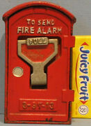 Big Price Cut 1930and039s/50and039s Fire Alarm Box Bank Cast Iron Bank Japan Near Mint