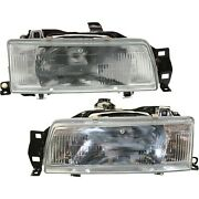 Headlight Set For 88-92 Toyota Corolla Sedan Or Wagon Left And Right With Bulb