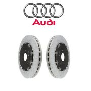 For Audi Rs4 Pair Set Of Front Left And Right Brake Disc Rotors Cross Drilled