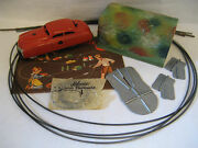 Vintage Shuco Varianto Limo W/ Tin Tunnel And Guide Wire 3010 Car Red Instructions