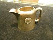 Hotel London Advertising 4oz Creamer Pitcher Silver Soldered Canada Benedict